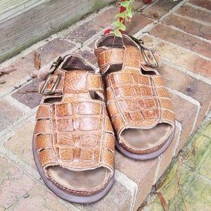 Dr Martens Brown Leather Sandals Sz 6